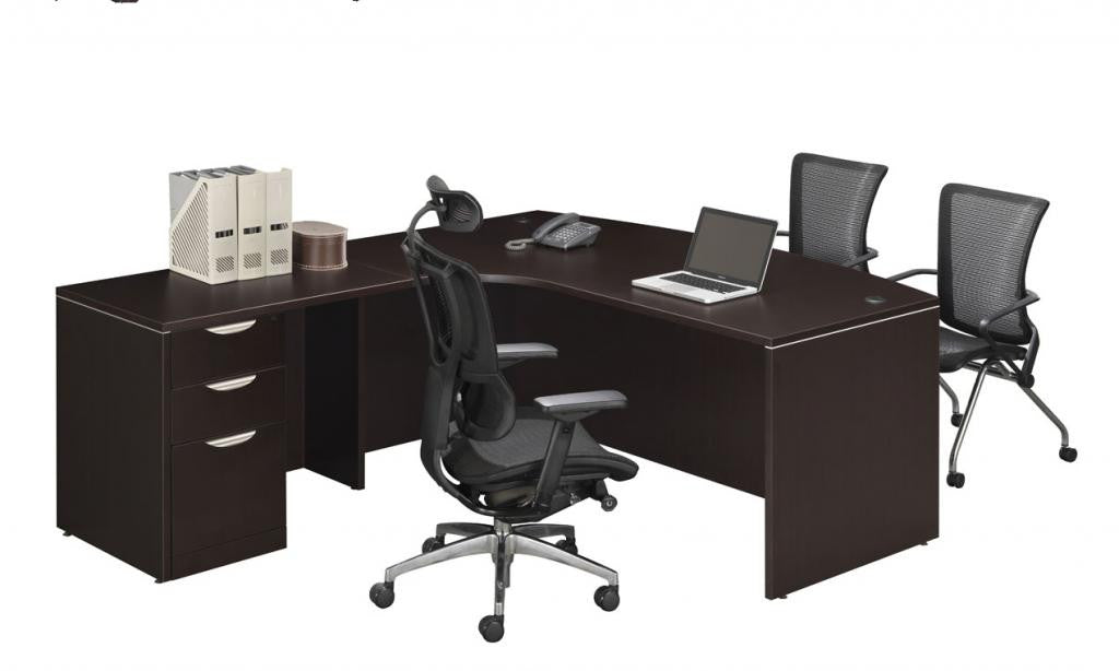 Radius Bowfront Workstation With Full Height Pedestal