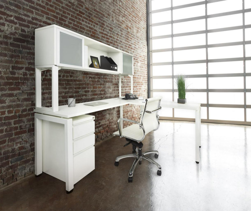 "L-Shaped Workstation 72"" x 72"", 24""D"
