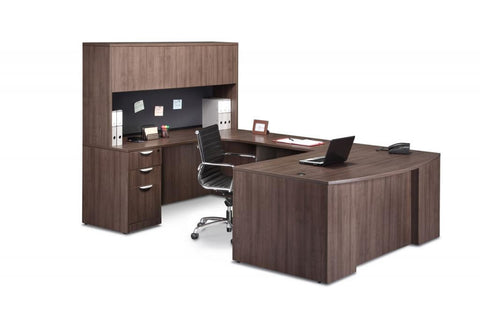 "Executive Bowfront Workstation 71"" x 112"""