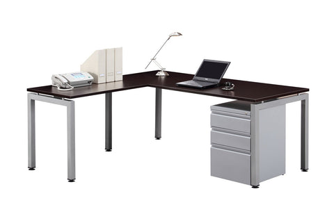 "Bridge Collection - Workstation 72"" x 78"" with Mobile Pedestal"