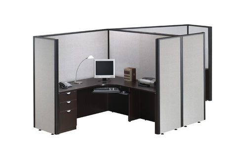 Dual Office Cubicle Workstation
