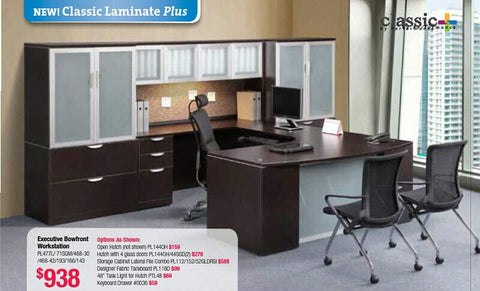 Classic Plus - Executive Bowfront Workstations
