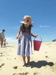 Sand Castle Dress (Indigo) -2Y