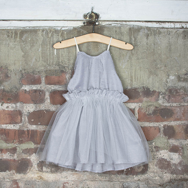 Dreamer's Tutu Dress (Misty Morning) - 2Y