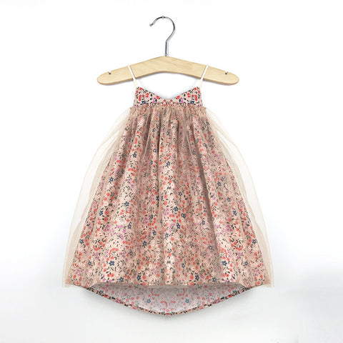 Fairy Dance Tutu Dress (Sunset blossom)