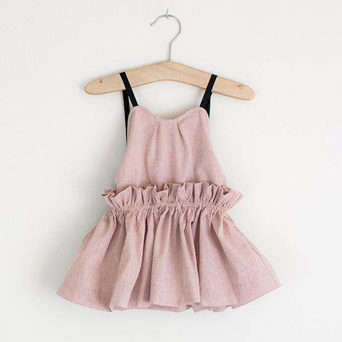 Dancing In The Street Dress (Stone pink)