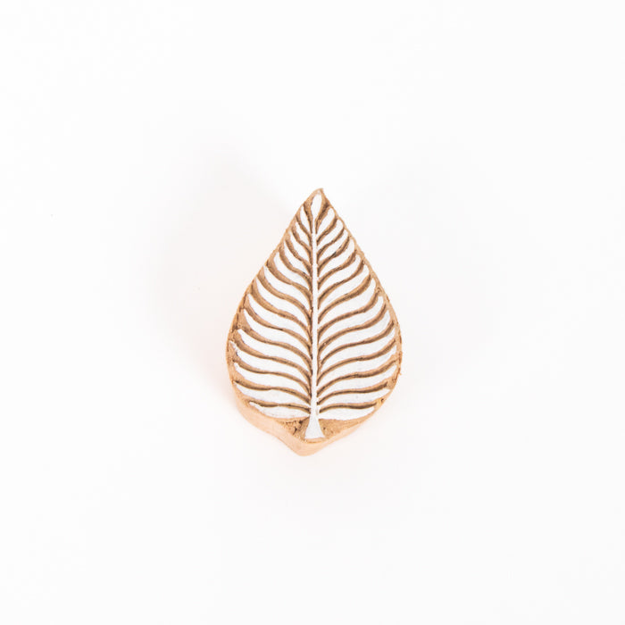 Wooden Printing Block - Leaf