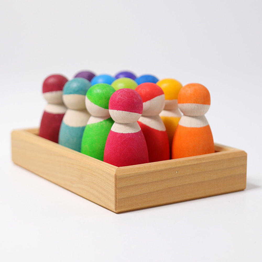 Wooden Friends | Rainbow - 12 piece
