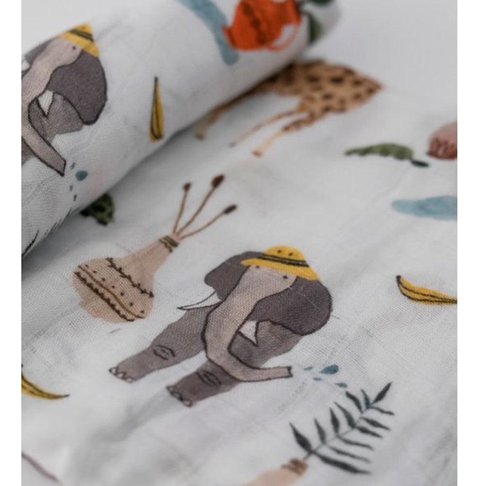 Deluxe Muslin Swaddle - Safari