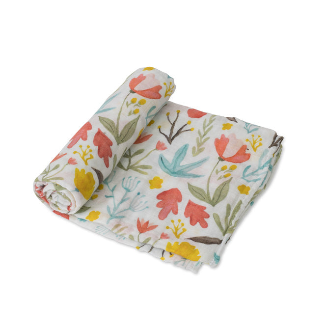 Cotton Muslin Swaddle - Meadow