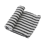 Cotton Muslin Swaddle - Breton Stripes
