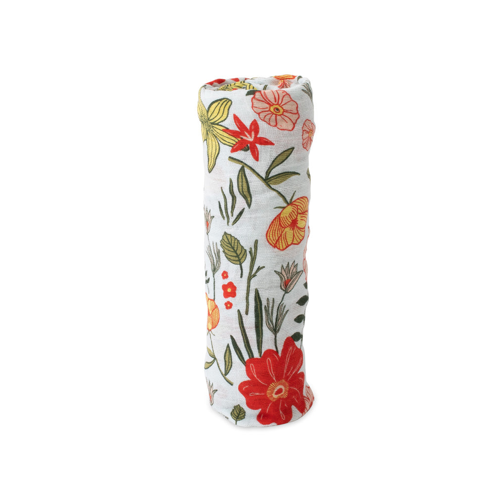 Cotton Muslin Swaddle - Primrose Patch