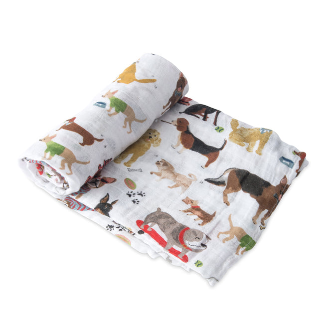 Cotton Muslin Swaddle - Woof