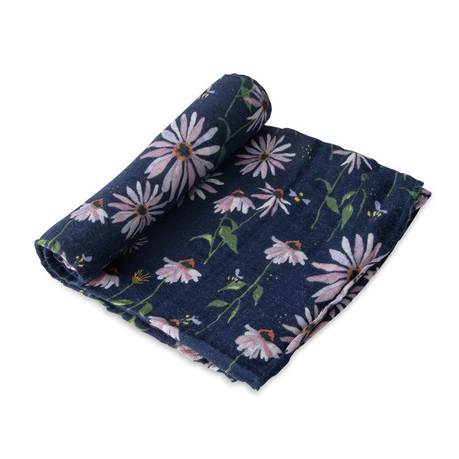 Cotton Muslin Swaddle - Coneflower