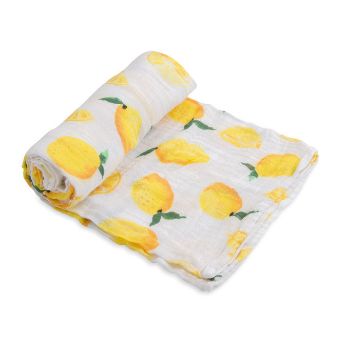 Cotton Muslin Swaddle - Lemon