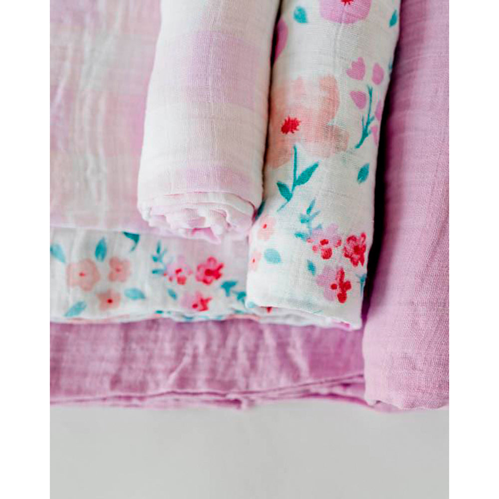 Cotton Muslin Swaddle | Morning Glory - 3pk
