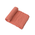 Cotton Muslin Swaddle - Dusty Rose