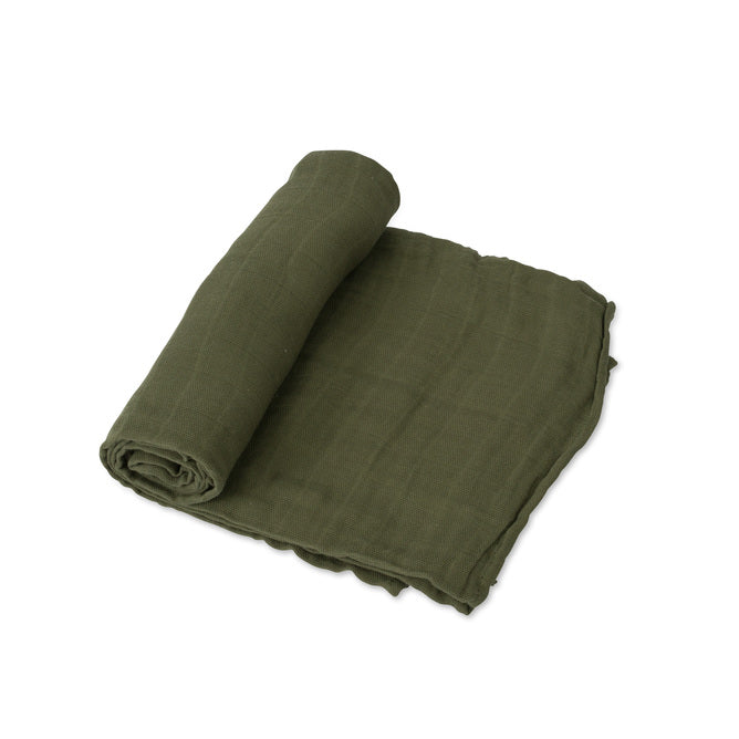 Cotton Muslin Swaddle - Fern