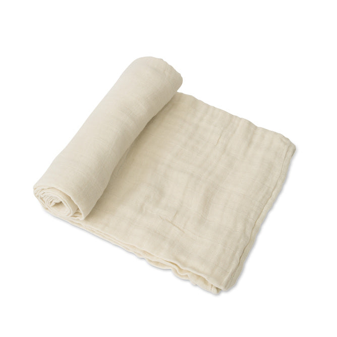 Cotton Muslin Swaddle - Linen