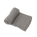 Cotton Muslin Swaddle - Nickel