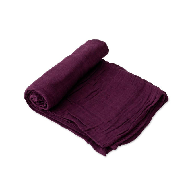 Cotton Muslin Swaddle - Plum