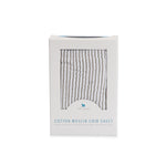 Cot Sheet | Cotton Muslin - Grey Stripe