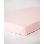 Cot Sheet | Cotton Muslin - Blush