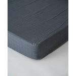 Cot Sheet | Cotton Muslin - Charcoal