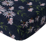 Cot Sheet | Cotton Muslin - Dark Coneflower