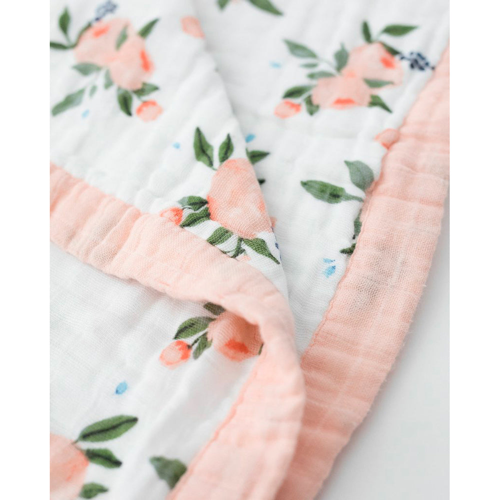 Big Kids Quilt | Cotton Muslin - Watercolour Roses
