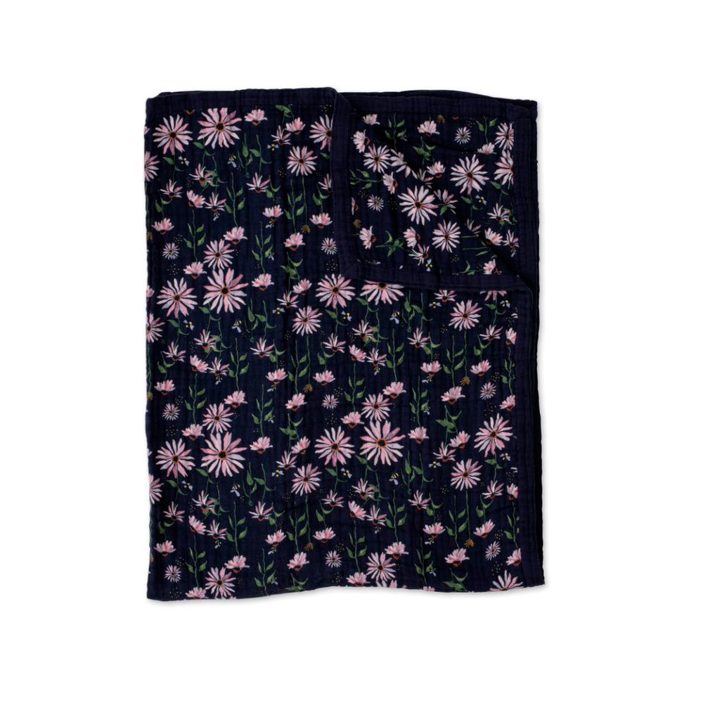 Big Kids Quilt | Cotton Muslin - Dark Coneflower