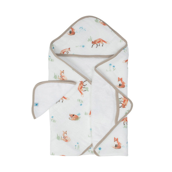 Hooded Towel & Wash Cloth - Fox