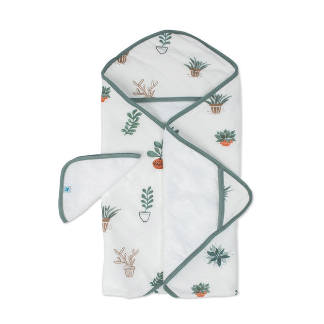 Hooded Towel & Wash Cloth - Prickle Pots