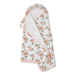 Big Kid Hooded Towel - Watercolour Roses
