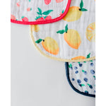 Cotton Muslin Classic Bib | 3pk - Berry Lemonade