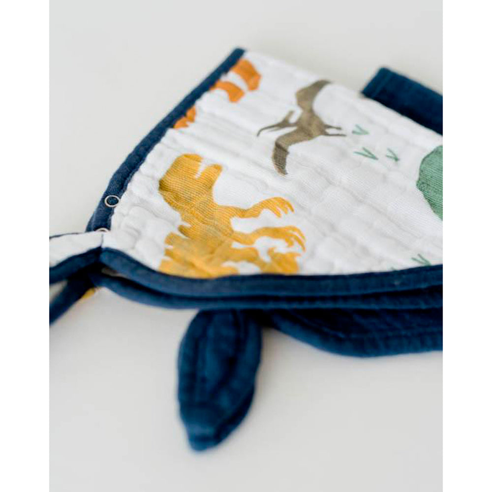 Cotton Muslin Bandana Bib | 2pk - Dino Friends