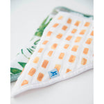 Cotton Muslin Bandana Bib | 2pk - Tropical Leaf