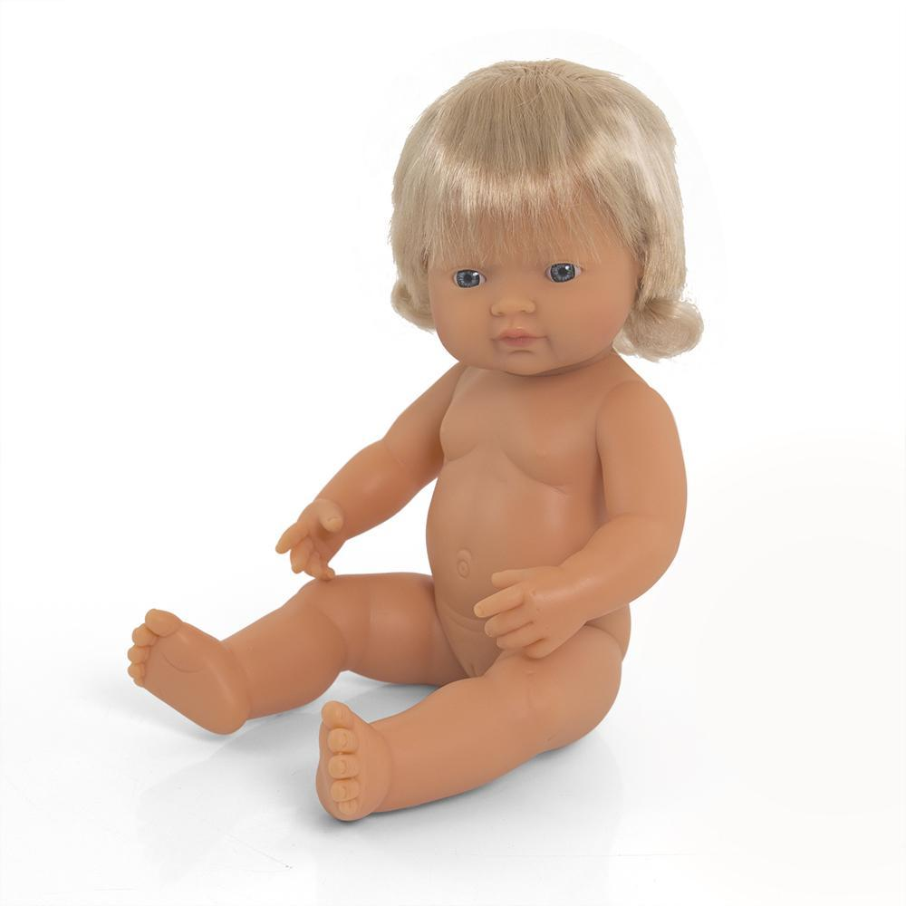 Anatomically Correct Doll | 38cm - Caucasian Girl Blonde