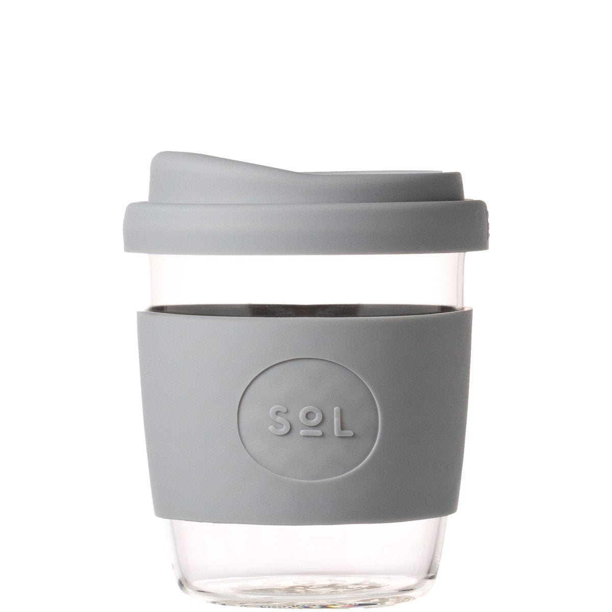 Glass Cup | 8oz - Cool Grey
