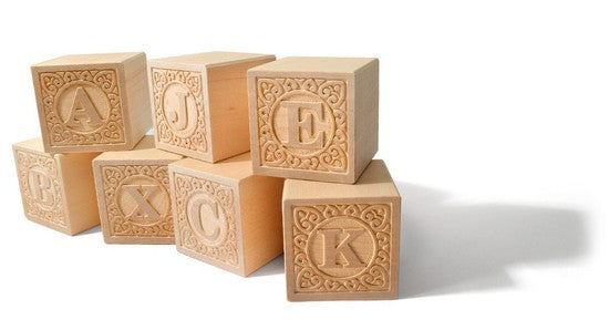 Wooden Blocks | Natural Uppercase ABC - 14 pc