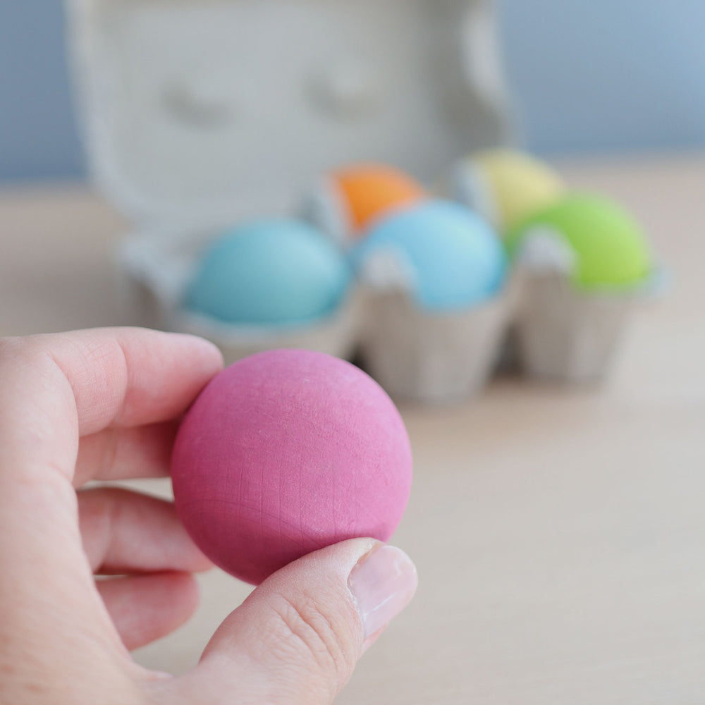 Wooden Balls | Pastel - 6 pack *BACK IN STOCK 2020*
