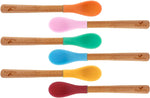 Bamboo & Silicone Infant Spoon | 5 pack