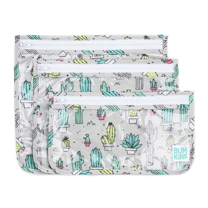 Clear Travel Bag 3pk - Cacti