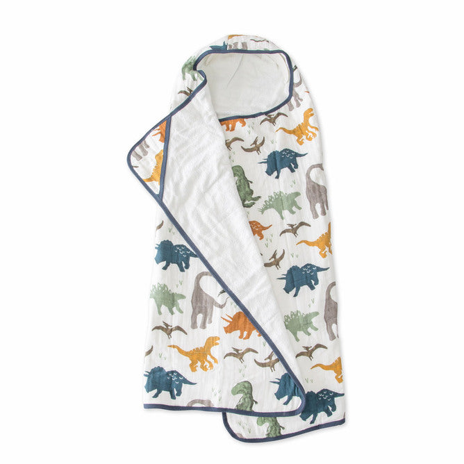 Big Kid Hooded Towel - Dino Friends