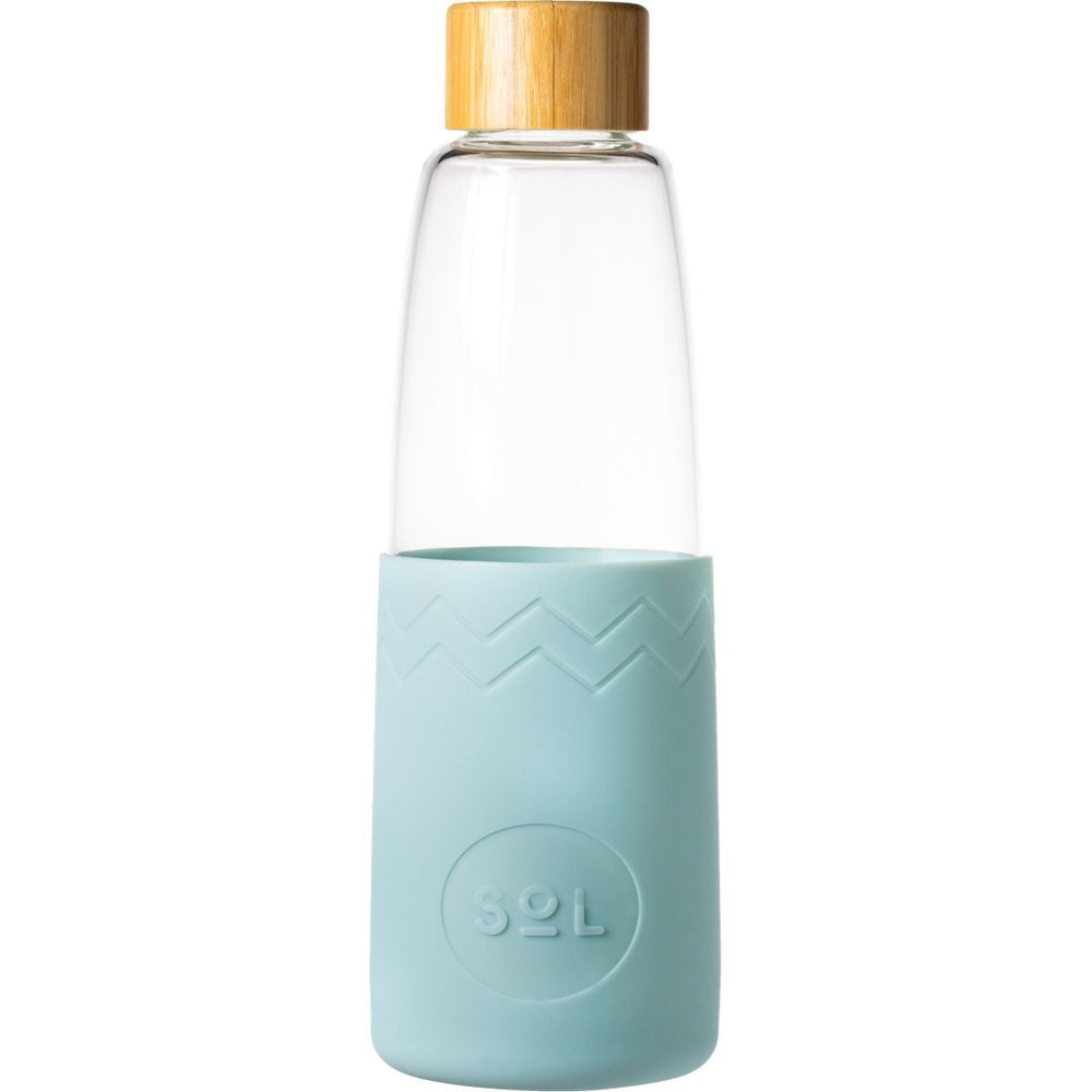 Glass Bottle | 850ml - Cool Cyan