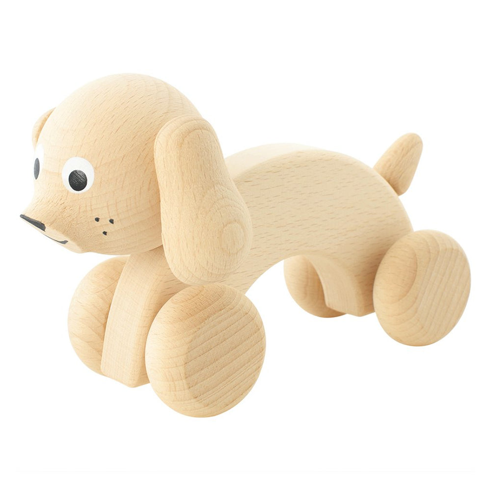 Wooden Push Along Dog - Harley