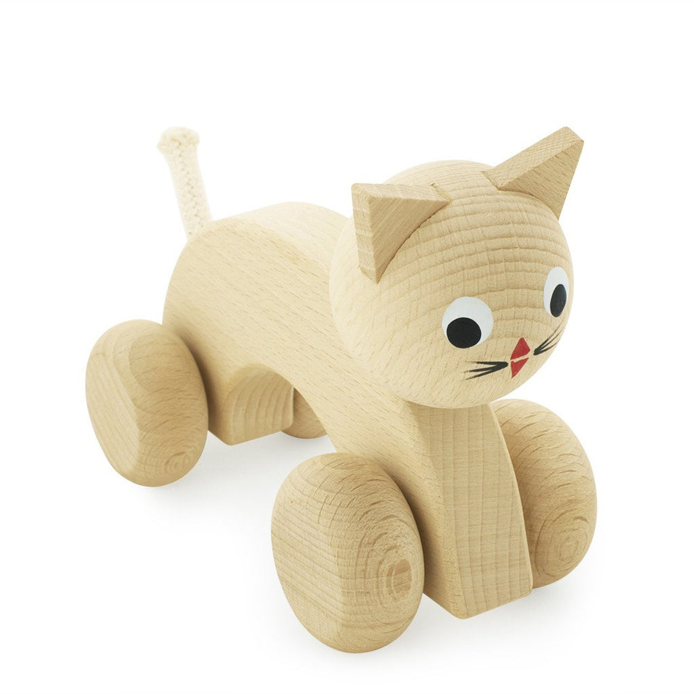 Wooden Push Along Dog - Kitty