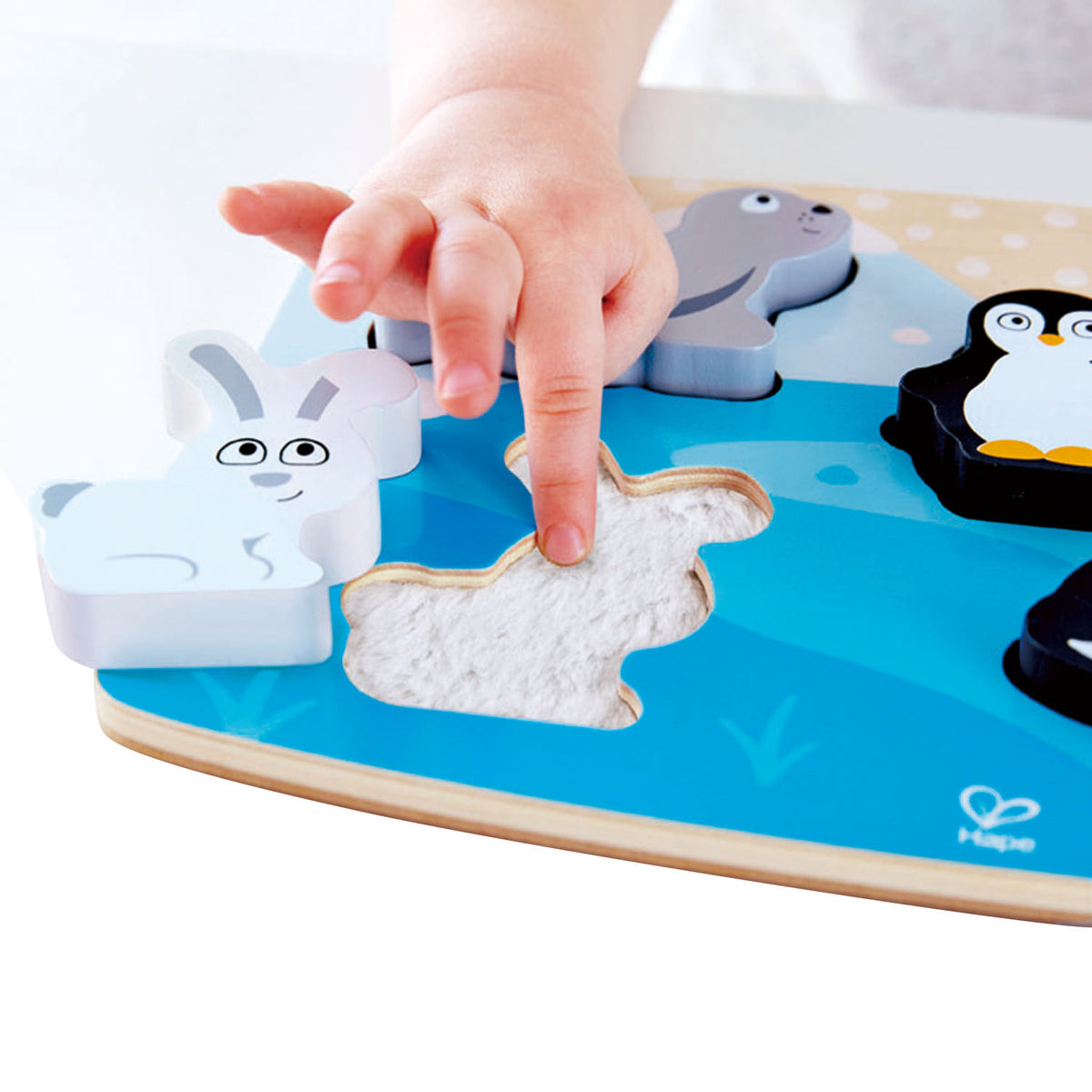 Wooden Tactile Puzzle - Polar Animals