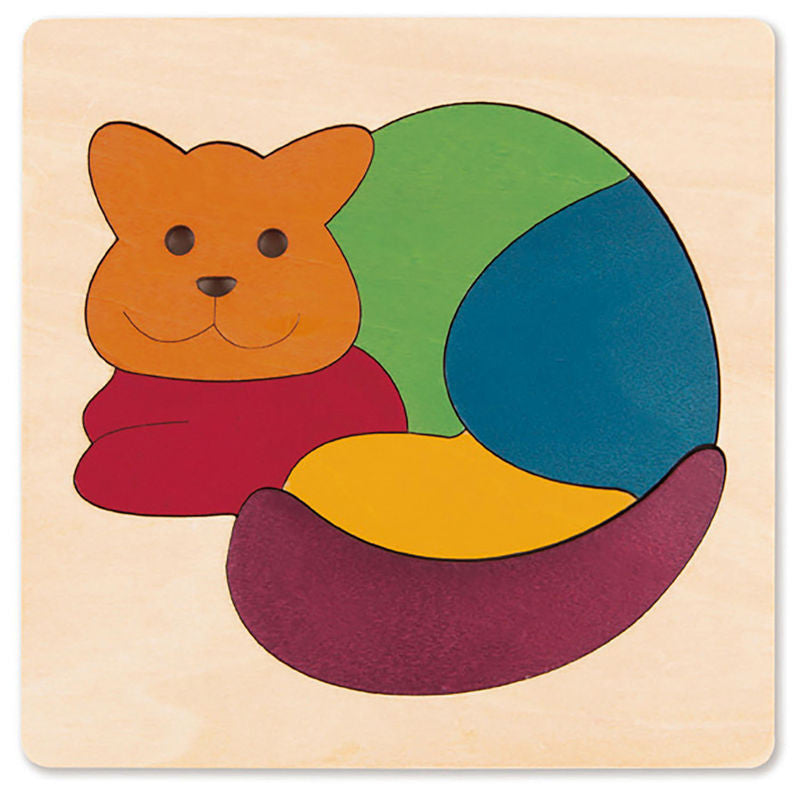 George Luck Wooden Puzzle - Rainbow Cat