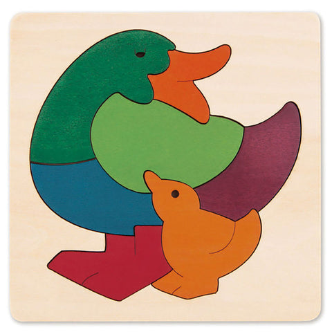George Luck | Wooden Puzzle - Rainbow Duck